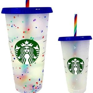 Starbucks Rainbow Confetti Color Changing Cup